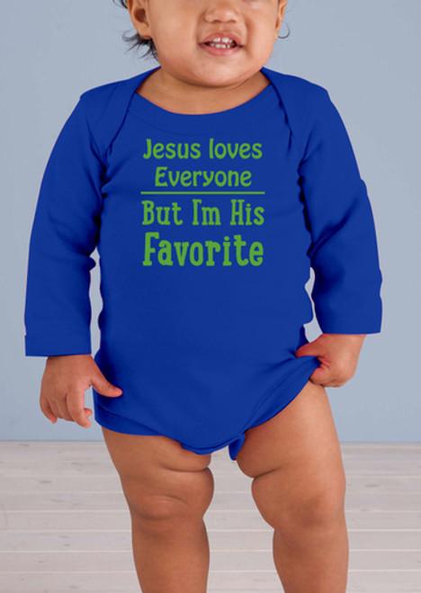 Jesus Loves Everyone Long-Sleeve Baby Onesie