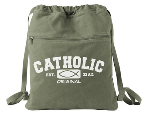 Catholic Original Canvas Messenger Bag