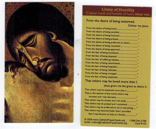 Litany of Humility Prayer Card Wallet Size