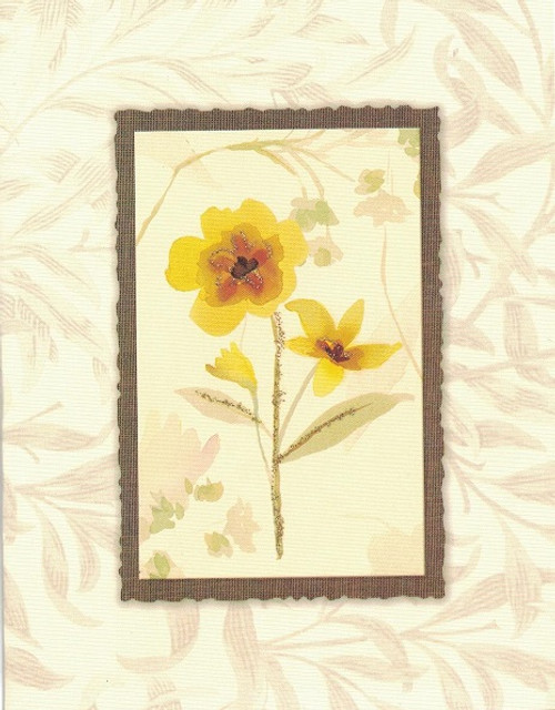 Yellow watercolor flower