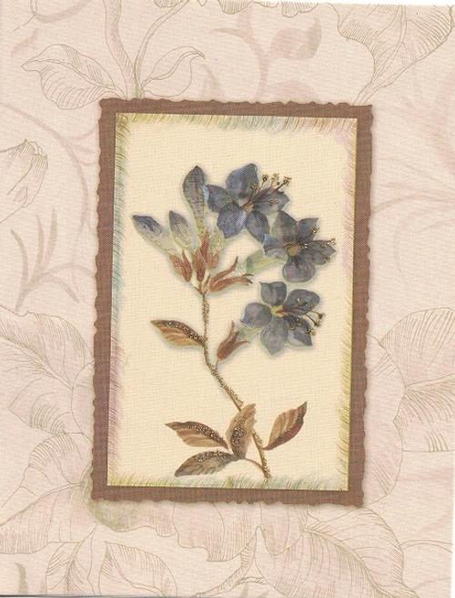 Purple vintage card
