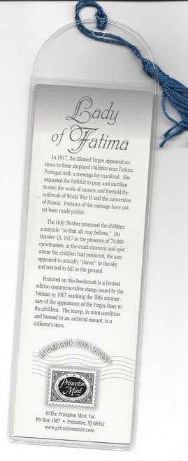 Lady Of Fatima Bookmark & Stamp