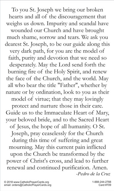 Saint Joseph Prayer for the Church and Clergy