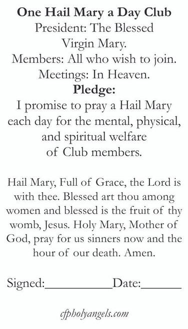 Hail Mary Membership Club Card