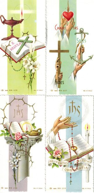 Solemn Vows Memorial Cards