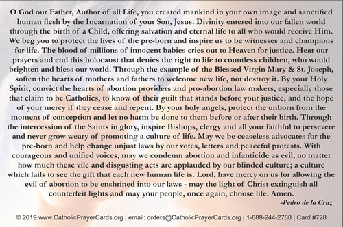 Prayer to End Abortion and Infanticide