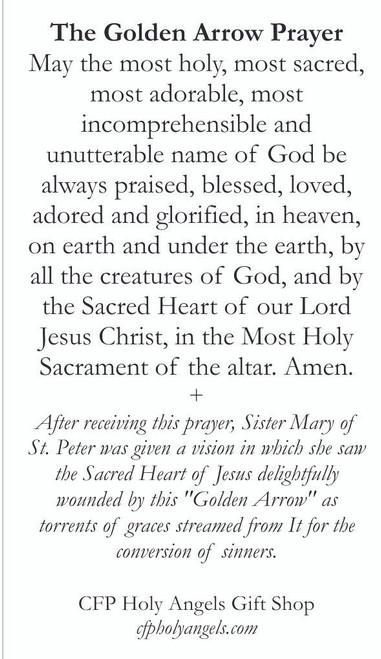 The Golden Arrow prayer Card