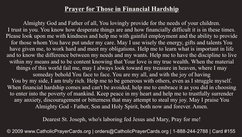 Prayer for Those in Financial Hardship