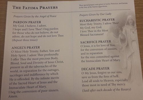 Our Lady of Fatima Pamphlet