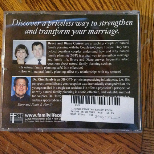 Divorce-Proofing Your Marriage with Natural Family Planning CD