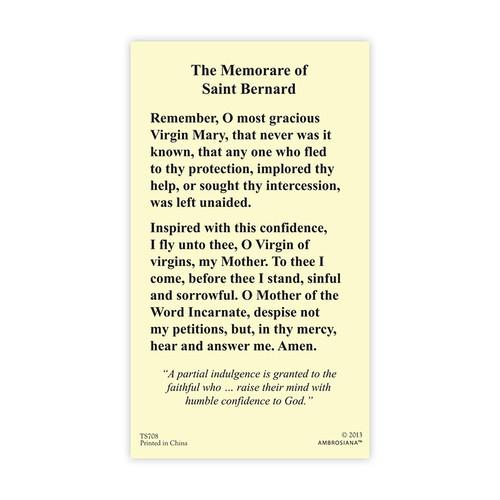 The Memorare of St. Bernard