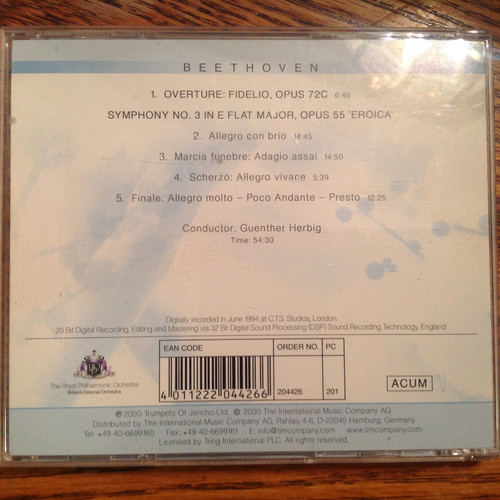 Beethoven by The Royal Philharmonic Orchestra CD