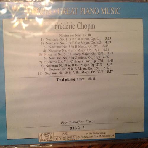 Chopin, World Famous Piano Music, Vol. 4 CD
