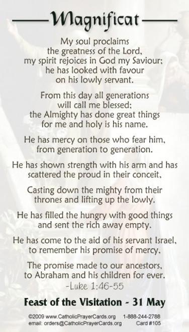 The Magnificat Visitation Prayer Card