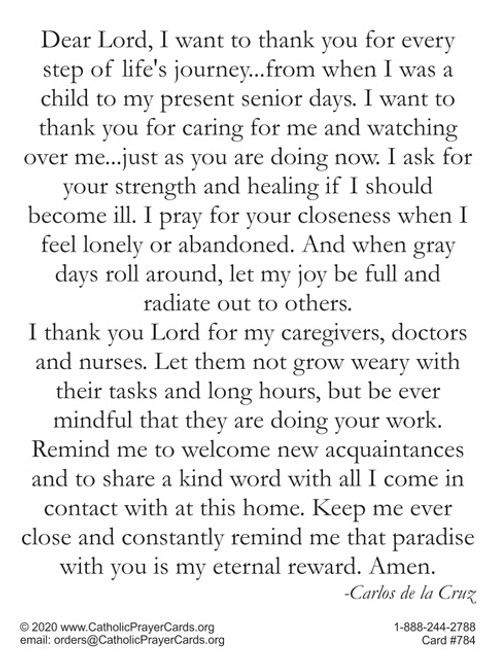 Prayer for those in nursing homes