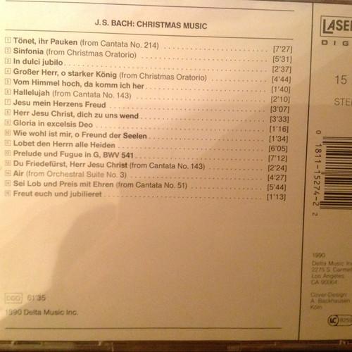 J.S. Bach Christmas Music CD
