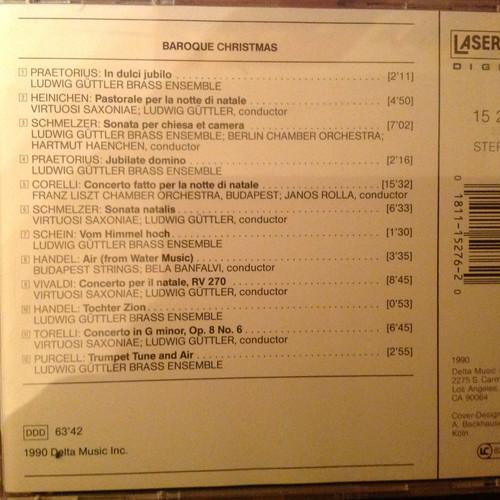 Baroque Christmas Music CD