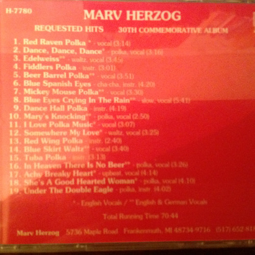Requested Hits by Marv Herzog CD