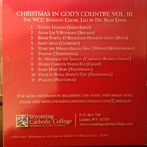 Christmas in God's Country Volume III CD