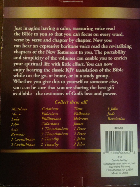 Bible on Audio CD, Vol. 10, Acts 15-28 CD