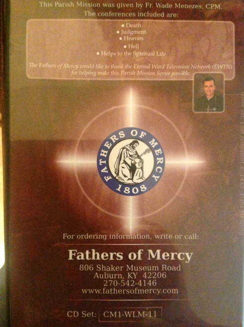 Reality Check - The Four Last Things:  Death, Judgment, Heaven, Hell by Fr. Wade Menezes Cd