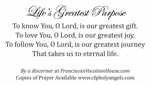 Life's Greatest Purpose Prayer Card