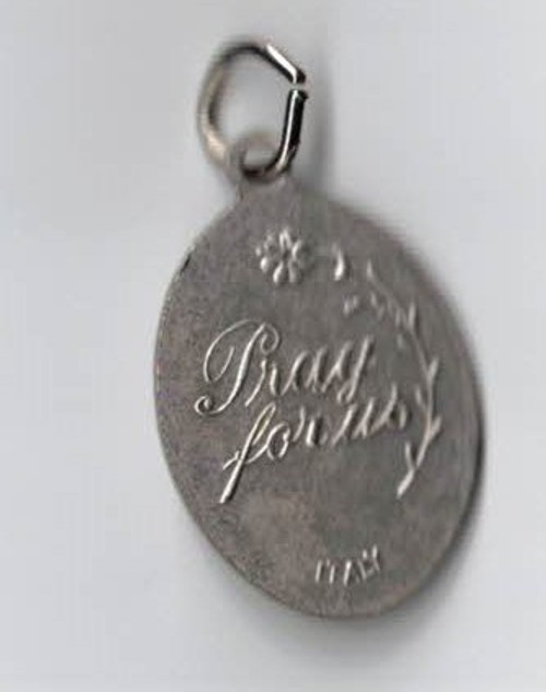 Our Lady of Medjugorje Silver Oxidized Medal