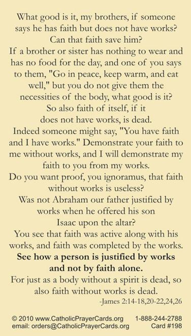 Saint James the Apostle Prayer Card