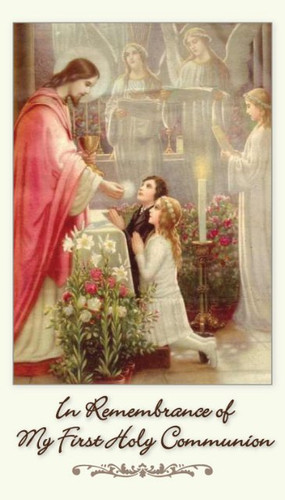 Traditional First Communion Remembrance Card With Anima Christi