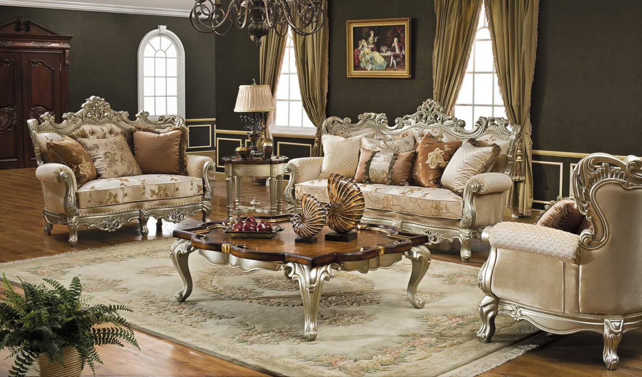 Celeste Antique Silver Living Room