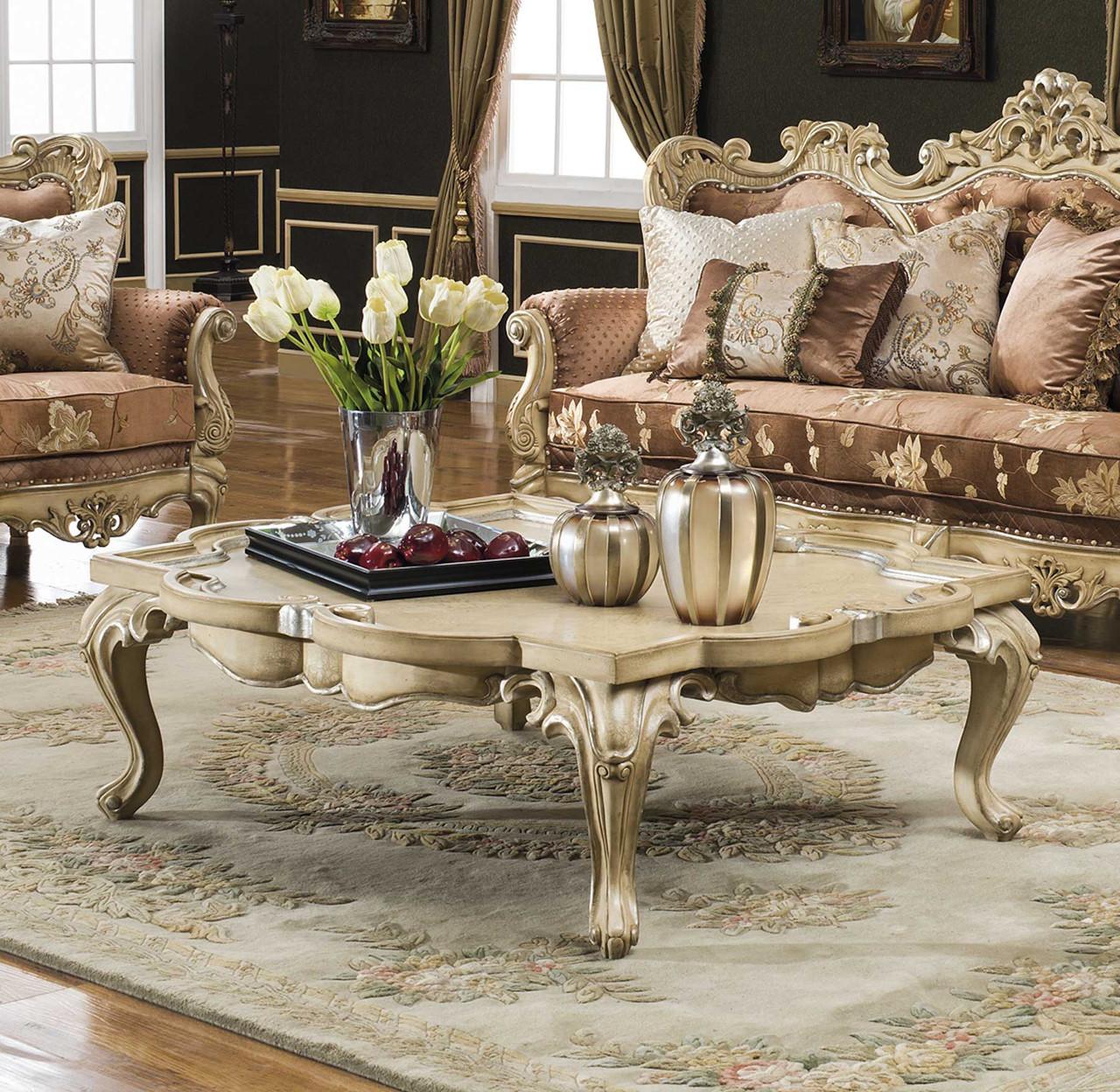 Celeste Antique White Coffee Table Magnolia Hall
