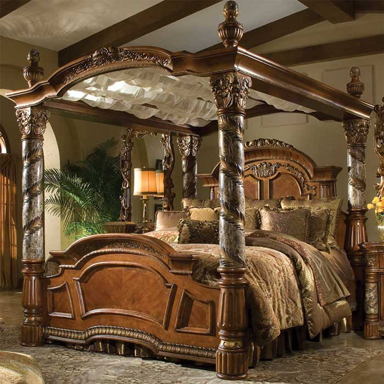 Canopy Bed.Renaissance King Canopy Bed