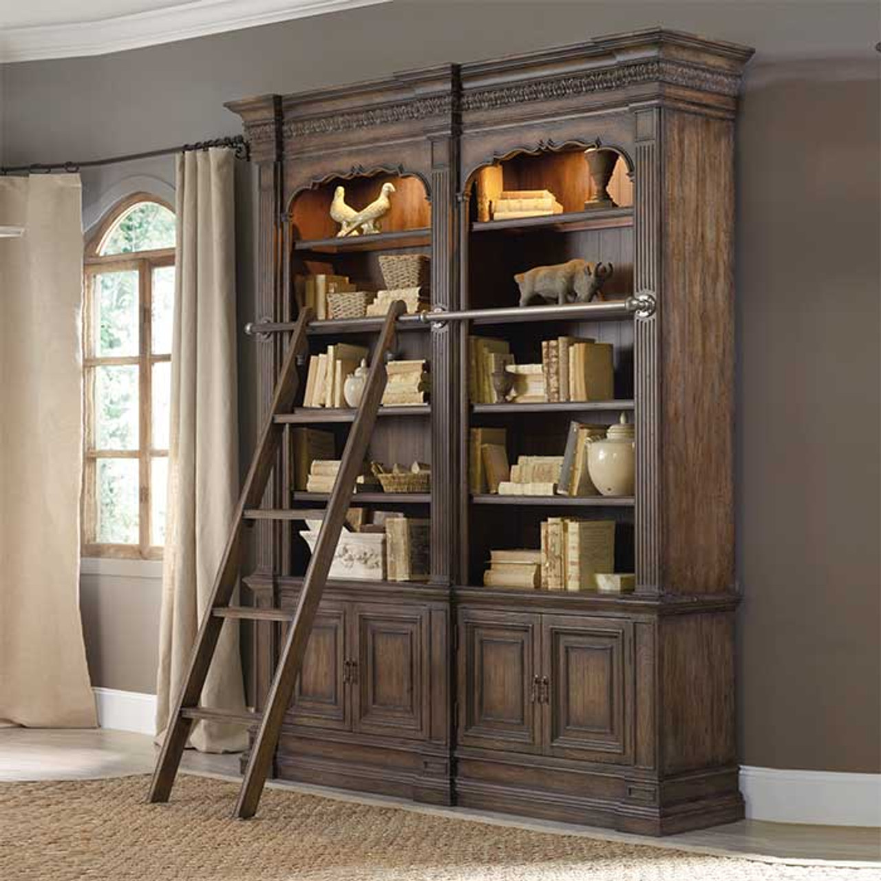 Renee S Double Bookcase Ladder And Rail Option