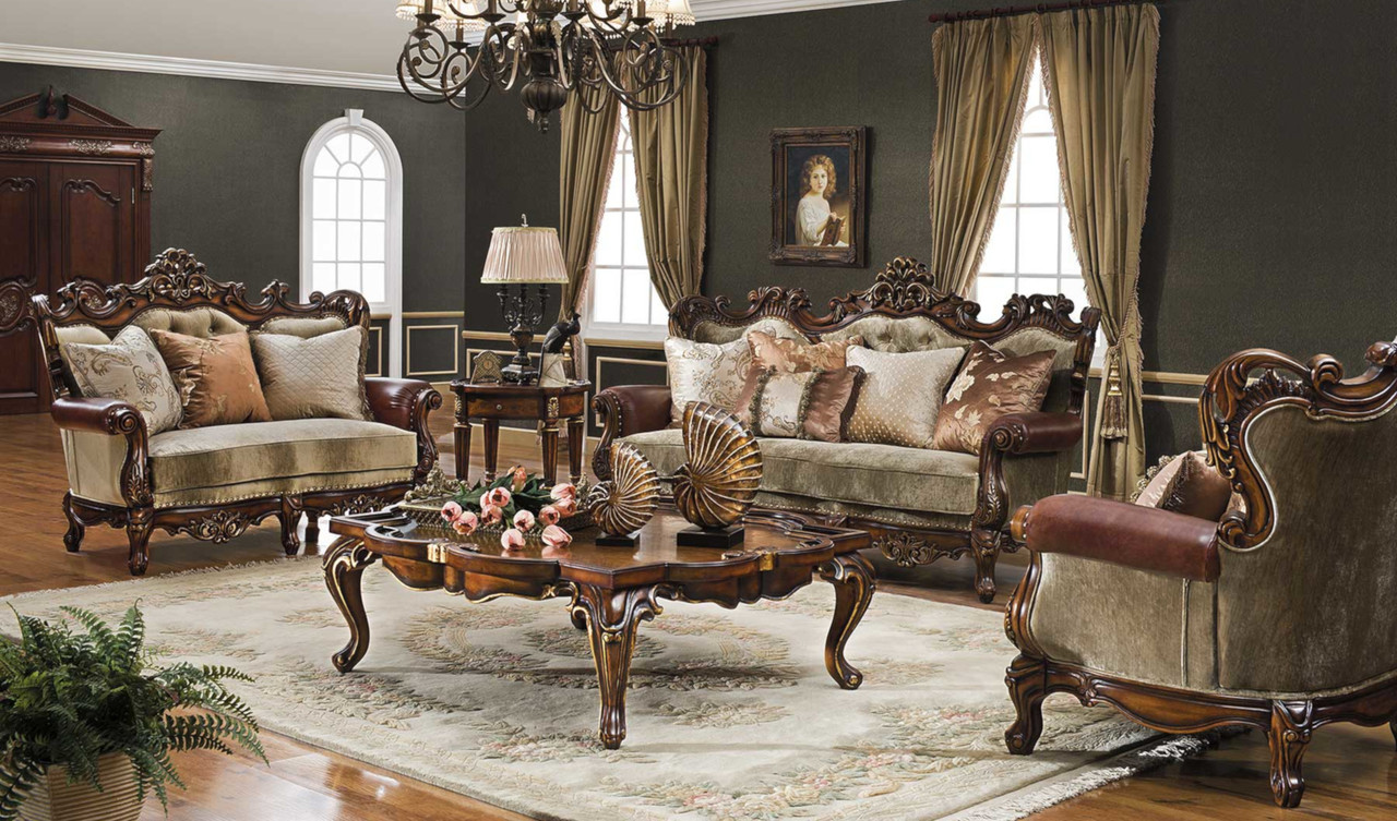 Celeste Antique Cognac Living Room