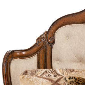 Caravelle Warm Walnut Bed in Fabric