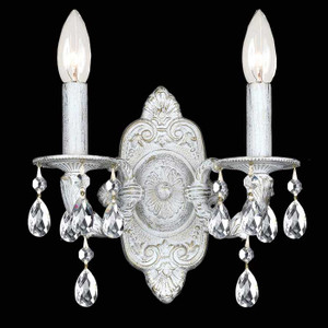 White Crystal Two-Arm Sconce