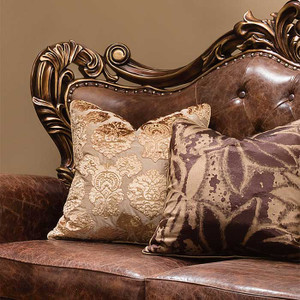 Bronze and Leather Loveseat