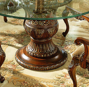 View of the Mahogany Dining Table Detail.