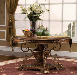 View of the Valentino Dining Table.