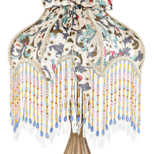 Victorian Floral Detail Beading Lamp