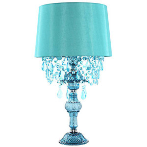 Sea Glass Blue Lamp
