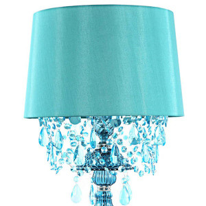 Sea Glass Blue  Lamp Shade Detail