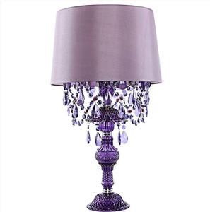 Sea Glass Amethyst Lamp