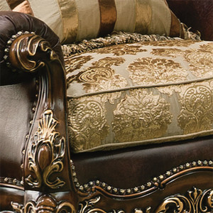 Chair Arm and Fabric Details