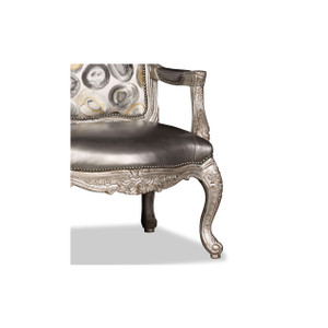 Silver Oyster Arm Chair
