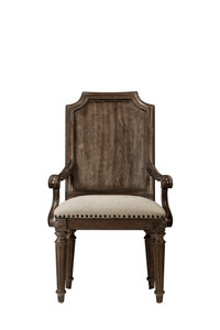 View of the Miabella Wood Back Arm Chair.
