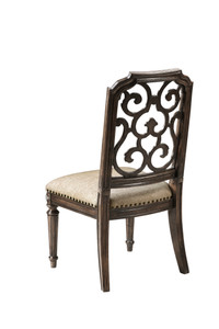 View of the Miabella Fretwork Side Chair.