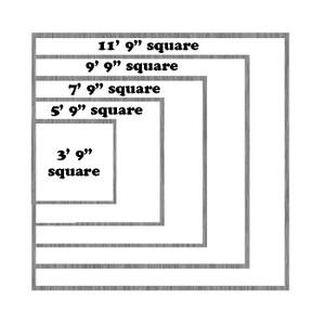 Torino Square-03 Sage Rug