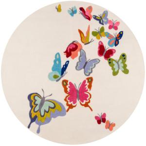 Butterfly Flutter Ivory Rug