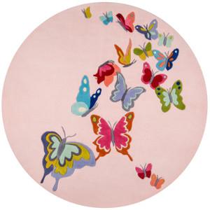 Butterfly Flutter Pink Rug